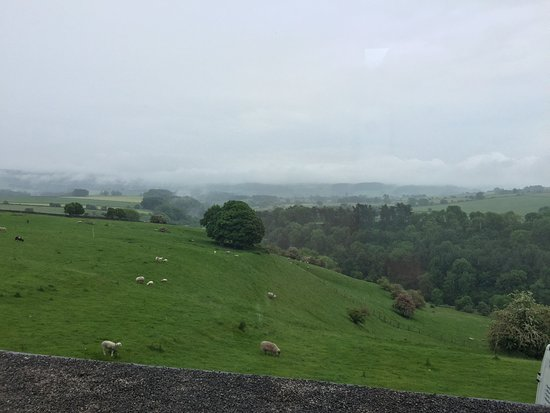 Over Haddon, UK: The view from our upstairs room