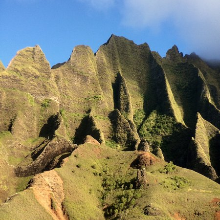 Hanalei, HI: On the sunset cruise we had a breath-taking view of the fluted cliffs of legendary Kalalau Valle