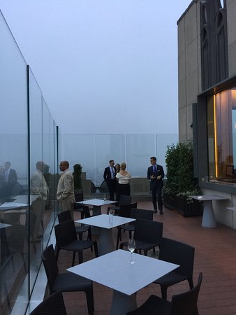 Outdoor Deck--cloudy and fogged in.