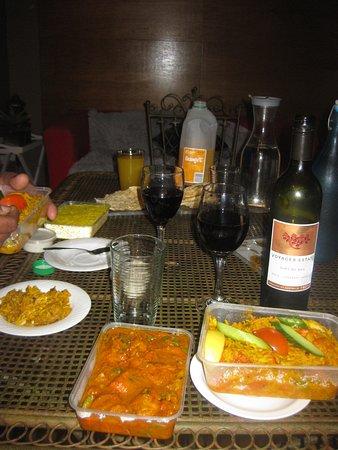 Curry King: Biriyani rice dish and Chicken curry. take away.