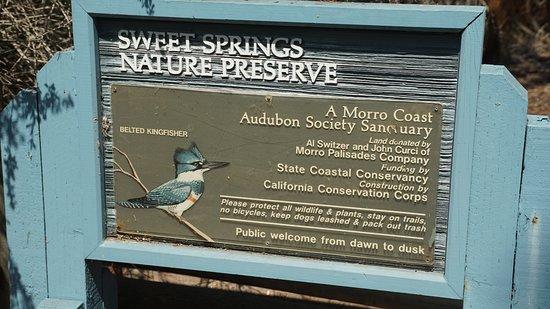 Los Osos, Kalifornia: Sign at entrance of Preserve