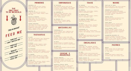 Food Menu  Picture Of Motel Mexicola Seminyak  Tripadvisor