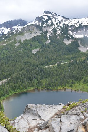 Mount Rainier: View looking south from the top of the Lakes Trail