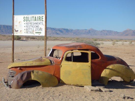 Солитер, Намибия: A l'entrée de Solitaire