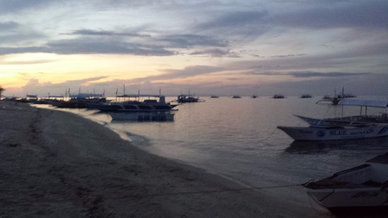 Oscar's Bar and Restaurant Malapascua: Along beach from Thresher Shark Divers