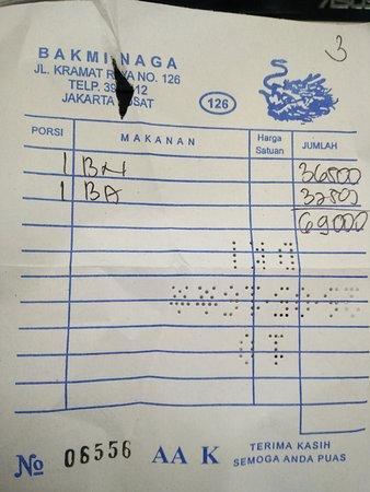 Menu Bakmi Naga Ayam 126 Foto Bakmi Naga Kramat 126