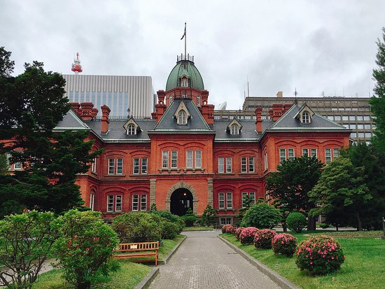Former Hokkaido Government Office Building: The famous red brick office.