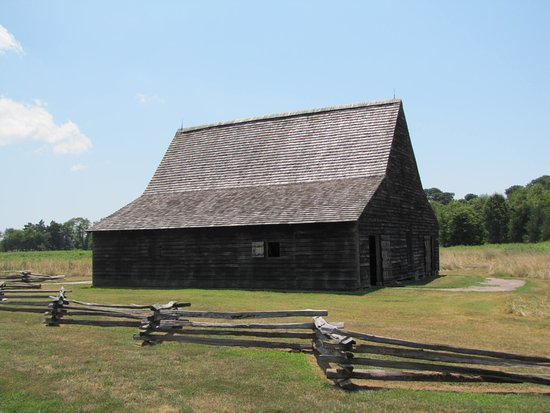 Saint Mary's City, MD: This barn is the oldest structure on the site, with parts going back to the 1700s