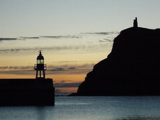 Port Erin, UK: Milners Tower at Sunset