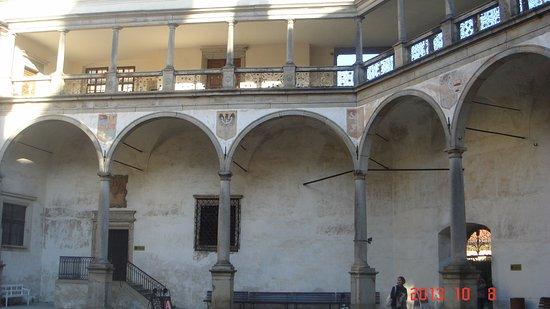 Telc, République tchèque : Это в замке.