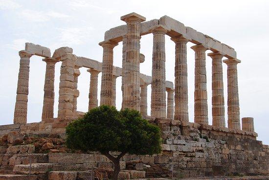 Sounio, กรีซ: вид на храм
