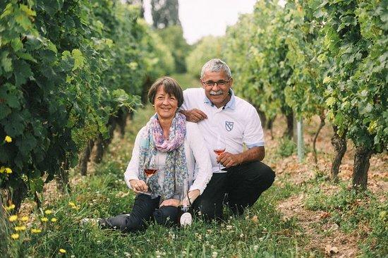Chinon, Francia: Odile et Jean-Max Manceau dans leurs vignes