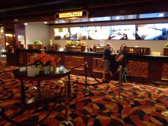 Jean, NV: Regestration at the Gold Strike Hotel