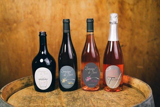 Les cuvées de Chinon blanc et rosé AOC du Domaine de Noiré