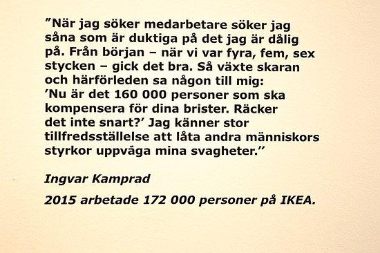 citat Klassiskt citat.   Picture of IKEA Museum, Almhult   TripAdvisor citat