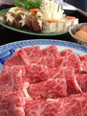 Yonezawa, Japan: 米沢牛すき焼きロース