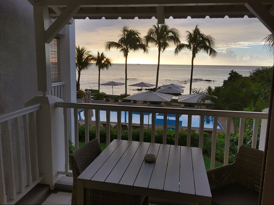 Mon Choisy Beach Resort: Had breakfast and lunch in the room most days - why bother travelling with this view!