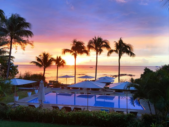 Mon Choisy Beach Resort: The sunsets were to die for !