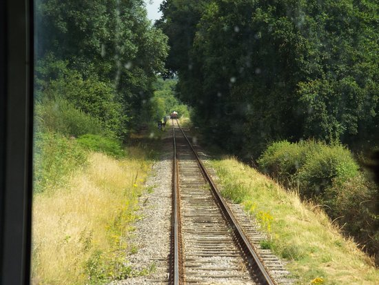 Isfield, UK: About a mile single line