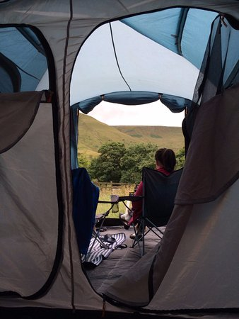 Edale, UK: View from our tent!