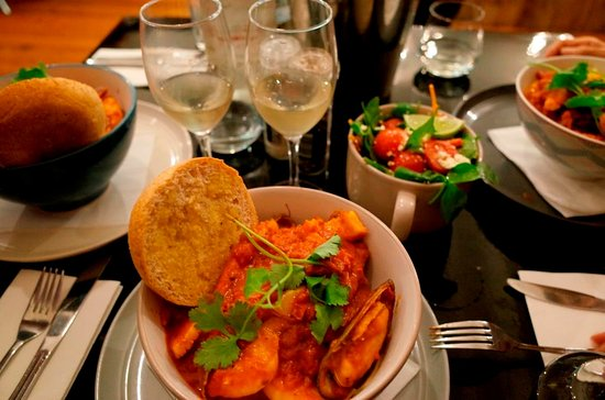 Port Campbell, Australia: イタリア風海鮮スパゲティー丼