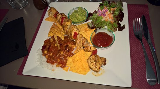 Limoux, Francia: Mexican Chicken Kebab