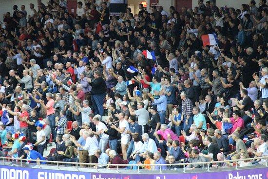 Montigny-le-Bretonneux, Frankrike: Un groupe de supporter aux championnats du monde
