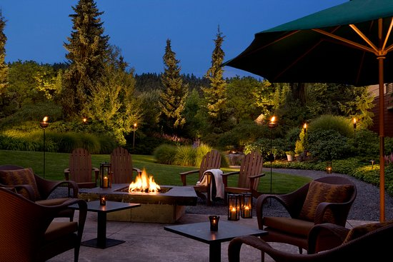 Вудинвилл, Вашингтон: Willows Lodge Firepit