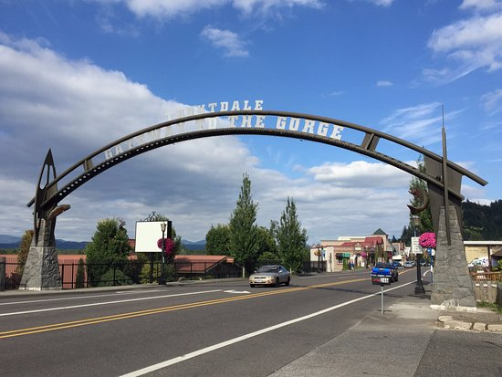 The gateway to the city of Troutdale.