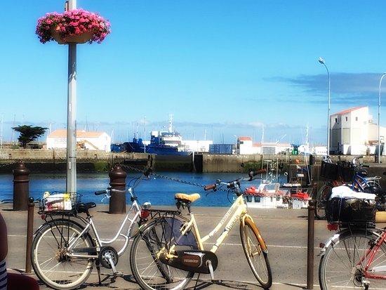 Vue de notre chambre sur le port photo de atlantic h tel le d 39 yeu t - Hotel atlantic ile d yeu ...