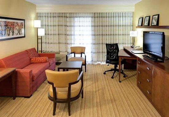 Harrisonburg, Wirginia: King Suite Living Area