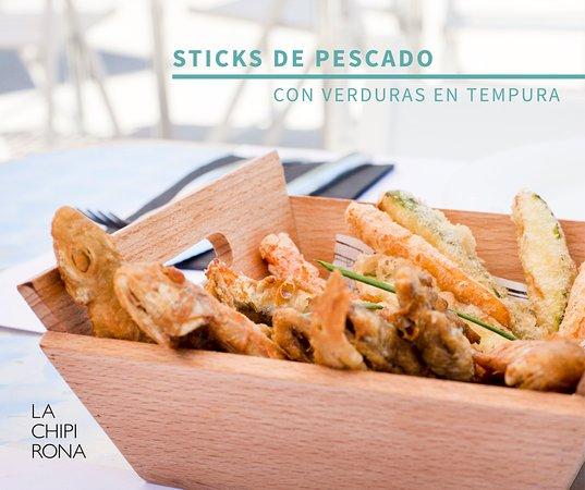 Alboraya, Spain: Chips de pescado y verdura