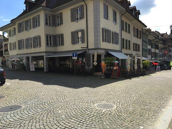 Zofingen, Switzerland: Mimistar Lounge, von der Fussgängerzone aus.