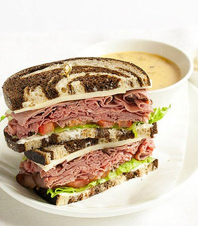 Creve Coeur, MO: Roast Beef and Havarti Sandwich