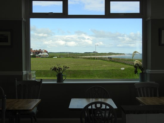 St Aidan Hotel View Of Bamburgh And Holy Island From The Dining Room