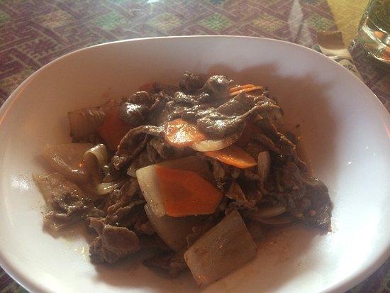 LaMu's House of Tibet : Beef with onions 😍