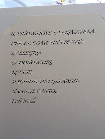 Sarzana, Itália: Цитата из винной карты