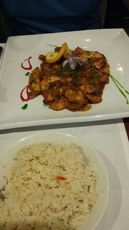 Panacea Premier Indian Dining: Lamb dish chilli chicken & different chutneys