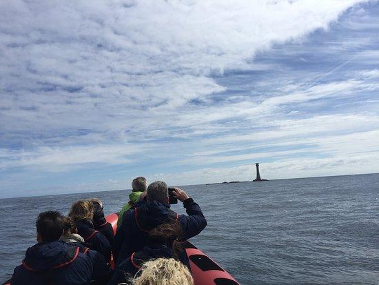 St Davids, UK: Smalls Lighthouse - last land before America!