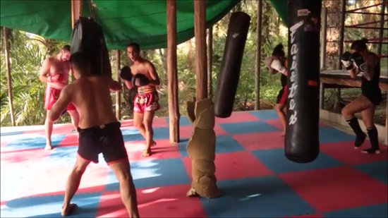 ‪‪Khuraburi‬, تايلاند: muay thai training at ao-koei camp Thailand‬