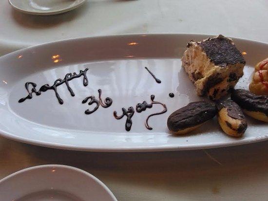 Port Saint Lucie, FL: Surprise anniversary dessert on the house