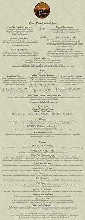 Γούντστοκ, Κονέκτικατ: Dinner Menu
