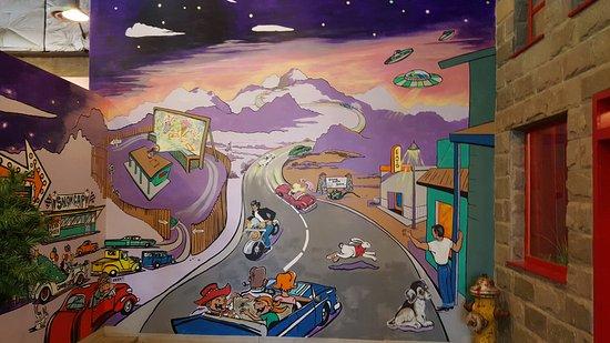 Arizona Route 66 Museum: Fun murals in the museum.