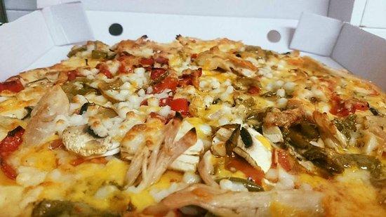 Sopelana, Spanien: pizza Coyote