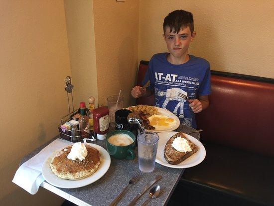 Littleton, CO: My nephew is not afraid of a big breakfast