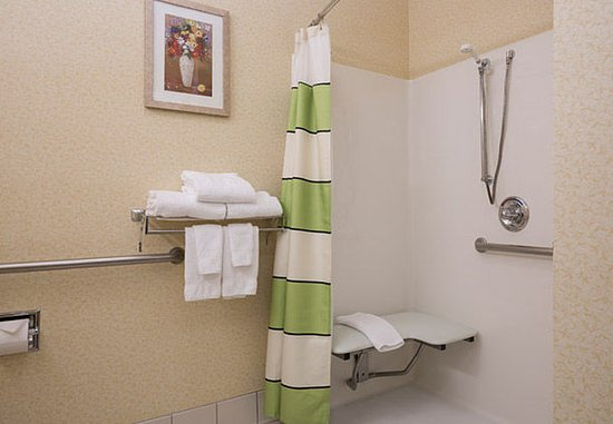 Roseville, CA: Accessible Guest Bathroom - Roll-in Shower