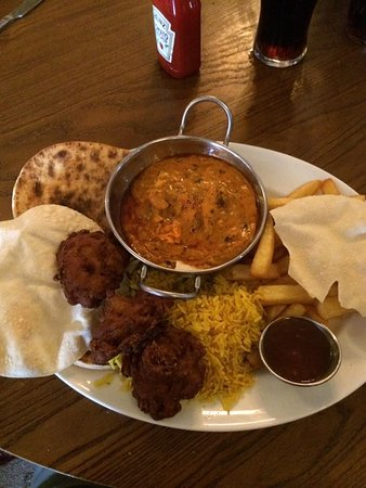 Claydon, UK: Chicken tika masala banquet