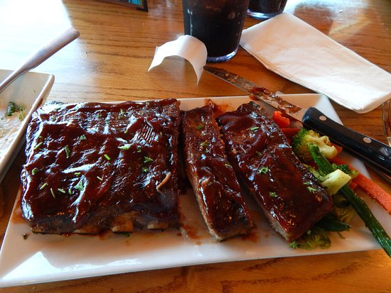 Fish Haven, ID: Half Rack Rib Special of the Day - Yummy!