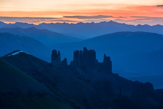 "Gunnison, CO: ""Castles Sunrise"" West Elk Wilderness, Colorado"