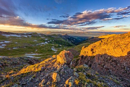 "Gunnison, Colorado: ""Castles Sunset"" West Elk Wilderness, Colorado"